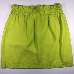J Crew - Citrus Lime Linen Skirt NWOT